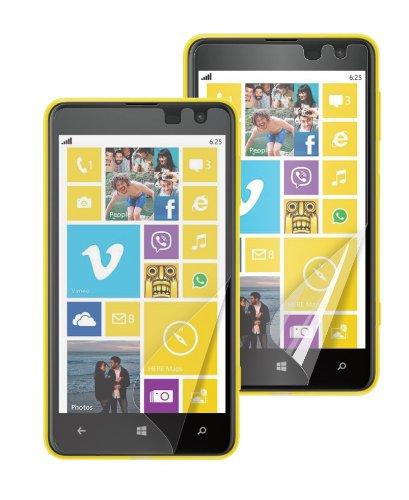 Muvit MUSCP0398 - Protector de pantalla antihuellas para Nokia Lumia 625 (2...