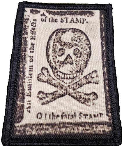 Revolutionary War Patriot Stamp Act Tactical Patch Made in The USA- Patches Perfect for Your Plate Carrier Military Vest, hat, Backpack. Funny Patch by Redheadedtshirts!