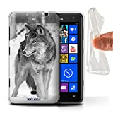 Hülle Für Nokia Lumia 625 Zoo-Tiere Wolf Design