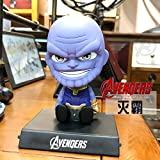 UDstrap Marvel The Avengers Cartoon Iron Man Shaking Head Doll Toy Car Decoration Interior Doll...