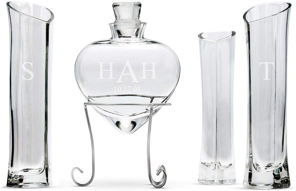 Weddingstar Heart Shaped Nashville-Davidson Mall 5% OFF Sand Ceremony Unity W Vase Set