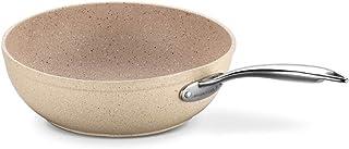 Korkmaz A1273 - Sartén para wok (antiadherente, alta conductividad térmica, base solar, 24 x 6,5 cm)