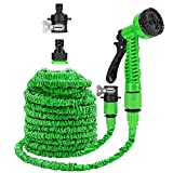 Cihely 75FT Garden Hose with 7 in 1 Spray Gun Quick Connector Expandable