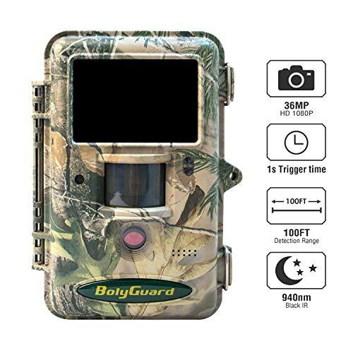 BolyGuard 36MP 1080P Wildkamera Mit Bewegungsmelder Nachtsicht Handyübertragung Testsleger Wildtierkamera Wlan GPRS Email MMS