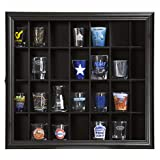 Gallery Solutions 18x16 Shot Glass Hinged Front Display Case, 18' x 16', Black