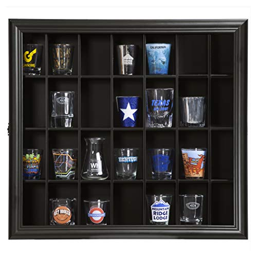 Gallery Solutions 18x16 Shot Glass Hinged Front Display Case, 18