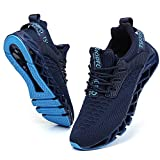 TSIODFO Blue Running Shoes for Men Tennis Shoes Size 9.5 mesh Breathable Comfort Fashion Sport Athletic Walking Jogging Sneakers