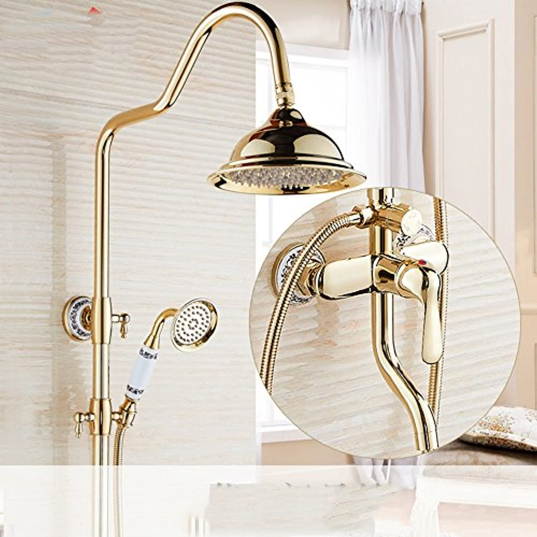 ZQ@QX Continental - Kupfer antik Gold duschen Paket J