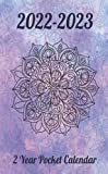 2 Year Pocket Calendar 2022-2023: Two year Monthly Calendar Planner January 2022 Up to December 2023 For To do list And Pocket Agenda Schedule Watercolor Mandala Design (2-Year calendar)