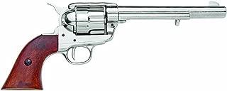 Denix Old West Replica M1873 Cavalry Single Action Revolver Non Firing Gun, Nickel