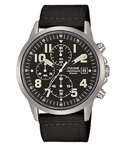 Pulsar PM3175X1 Herren Militär-Armbanduhr mit schwarzem Nylon-Armband