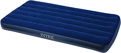 Intex Inflatable Twin Classic Air Bed/Mattress, Blue
