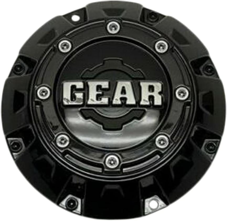 Gear Gloss Deluxe Black Wheel S1111-16 Center Omaha Mall 6001L176 Cap