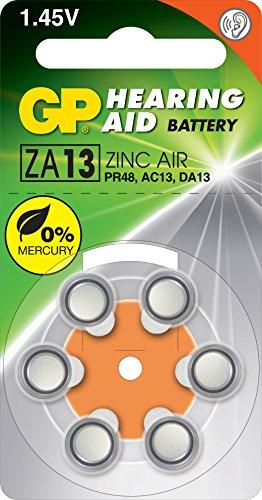 GP Battery Hörgeräte Batterie ZA13 6er Blister