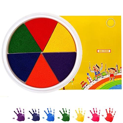 FTIK Pintar con los Dedos, Divertido Kit para Pintar con los Dedos para niños, Juguetes Lavables de Colores para Dibujar con los Dedos, Kit de Herramientas educativas para Pintar con Barro 6-Colors