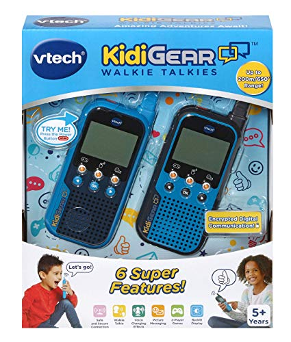 VTech KidiGear Walkie Talkies for Kids, Outdoor 65-foot Long Distance Walkie Talkies with Secure Digital Connection, Christmas Gifts for Boys & Girls 5, 6, 7, 8+ Years Old