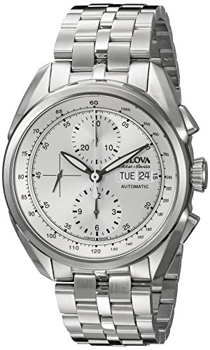 Bulova Accu Swiss Men's 63C120 Mechanical Hand Wind Silver...