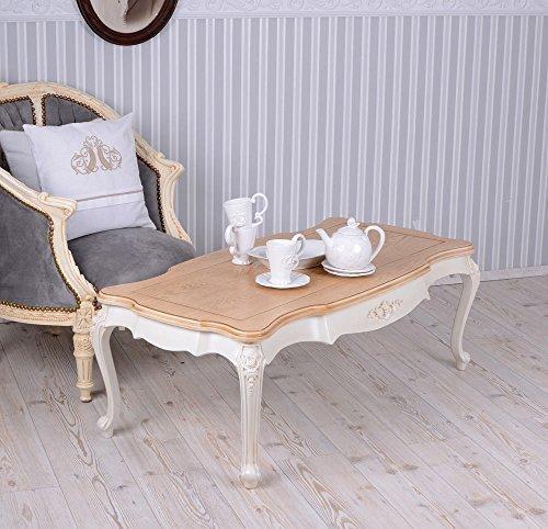 PALAZZO INT Tavolo da Salotto Villa Tavolo tavolino Bianco Vintage Shabby Chic