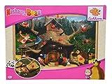 Eichhorn 109304085 - Mascha und der Bär Steckpuzzle, Entdecker Puzzle mit 12 Steckteilen, 30x20cm -