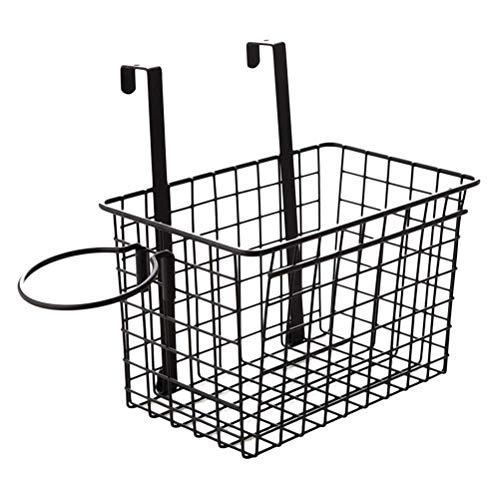 Planken Deur Organizer Basket Cupboard Basket hanging basket Keuken Badkamer Storage Basket Opknoping Basket (zwart) Flower Pot Rack XIUYU