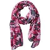 Tickled Pink Women's Lightweight Summer Insect Shield Scarf, Camo Pink, One Size