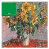 RKL 2021 Escritorio Calendario Museo Metropolitano de Arte Pintura al óleo Calendario de Pared de Flores 12 Pulgadas Calendario Inglés con uno mensual