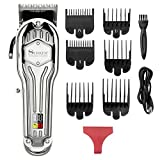 Surker Mens Hair Clippers Cordless Hair Trimmer Haircut & Grooming Kit for Men Beard Trimmer Rechargeable LED Display