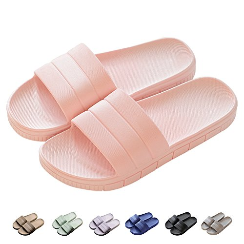 Zapatillas Pantuflas de Estar por casa de Hombre & Mujer & Pareja, Tira Ancha, Sandalia Tipo Chancla Verano, Rosa, EU 40/41 (260mm)