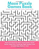 Maze Puzzle Games Book: Brain Challenging Maze Game Book for Teens, Young Adults, Adults, Senior, Large Print,...