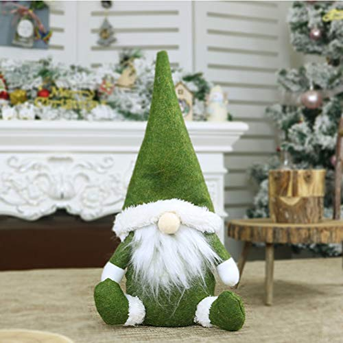 LQMILK Bambola Di Babbo Natale, Gnomo Di Natale, Regalo Di Compleanno Fatto A Mano Di Bambola Di Stoffa Di Babbo Natale, Gnomo Svedese Fatto A Mano Di Babbo Natale Seduto Seduto Bambola Di Peluche