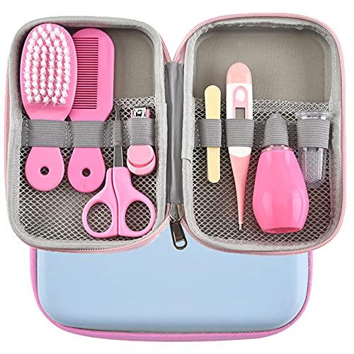 Kit Bebe Recien Nacido Higiene, MKNZOME 8 piezas Kit de Aseo para Bebés con Estuche de Transporte Set Cuidado Bebe Regalo para bebés recién nacidos niños pequeños cuidado de la salud y aseo