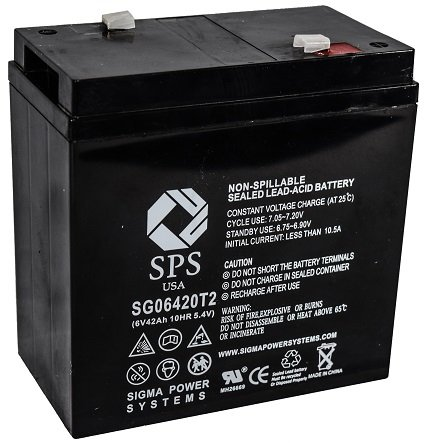 SPS Brand 6V 42Ah Replacement Battery for Carpenter Watchman 6MFL33