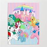 Jigsaw Puzzle 1000 Piezas 50x75cm Castillo de ensueño de Little Pony Puzzle de Alta Dificultad Grande Educativo El Alivio del Estrés Juguete Relajante Juego para Adultos Niños