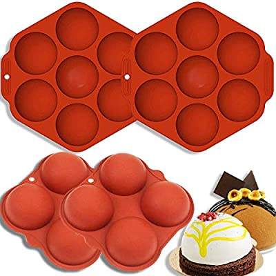 Dongzhur Hot Chocolate Bomb Mold, Round Silicon...