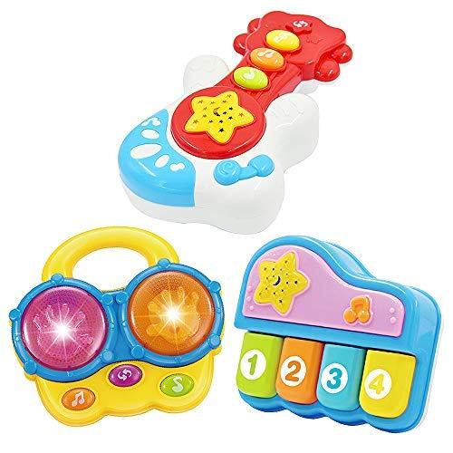 WEofferwhatYOUwant Set 3 Instrumentos Musicales Infantiles . Juguetes Bebe 9 Meses En Adelante . Tambor Infantil Y Otros Instrumentos Educativos