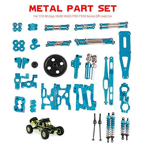 Goolsky Lenkzuggestänge Aluminiumlegierung für 1/12 RC Crawler WLtoys 12428 12423 FY01 FY02 FY03 FY04 FY05 FY05 Geländewagen(2pcs)