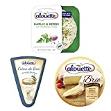 SPREAD, DIP & CHEESEBOARD READY: Serve with crackers and fresh vegetables - perfect for a special occasion or every day. BEST SELLING CHEESES: Assortment includes: Garlic & Herbs Cheese Spread, Crème de Brie Original Cheese Spread & Double Crème Brie...
