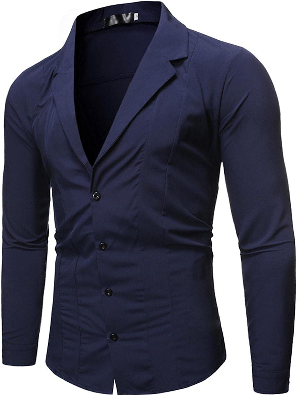 JIAYAN Detroit Mall Mens Slim Fit trend rank Blazer Jacket Down Button Suit Casual Lapel