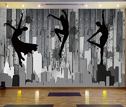 Wallpaper Mural Nostalgic board dance studio ballet yoga hall poster sports fitness hall photo wallpaper*250cmx175cm(98.4x68.9inch) Non-Woven Premium Art Print Fleece Wall Mural Decoration Poster Pict