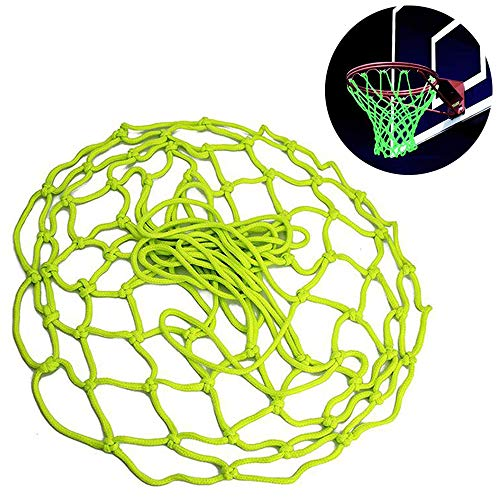 yyuezhi Grünes Basketballnetz Leuchtendes Basketballnetz Basketballnetz 45 cm Noctilucent in der Nacht Dunkelheit leuchtendes Ballnetz für Basketballkorb für Outdoor Indoor Sports Basketball Training