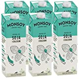 MONSOY - Bebida De Soja Calcio BIO - Caja de 6 x 1L