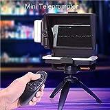 KEA YISOFINE Mini Teleprompter portátil con transmisor teleprompter, video con control remoto compatible con grabación de teléfono y DSLR