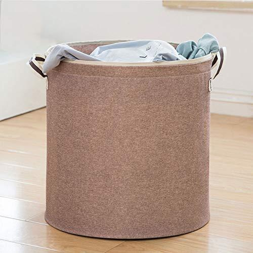 TOBY Folding Panier à Linge, Grande avec poignées pour Stockage de Lavage Dortoir de collège Salle de Bains Chambre-D 40x39cm(16x15inch)