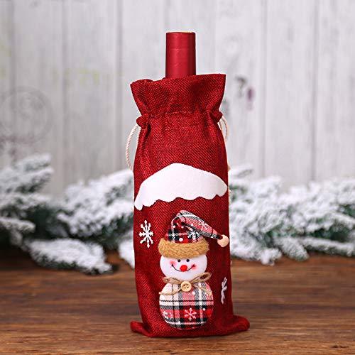 N A Decoración De Navidad Arpillera Viejo Muñeca Vino Tinto Titular Botella De Vino Bolsa De Vino Decoración De Hotel Vacaciones