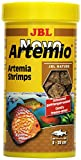 Complemento alimenticio JBL NovoArtemio, para Todos los Peces de acuarios, Compuesto de cangrejos de Artemia liofilizada
