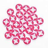 Gemelos Botón de costura de resina redonda de diseño cruzado 4 agujeros Paquete de 10 bolsas 240 piezas Botones artesanales Colores surtidos for manualidades DIY Proyecto hecho a mano Manual for niños