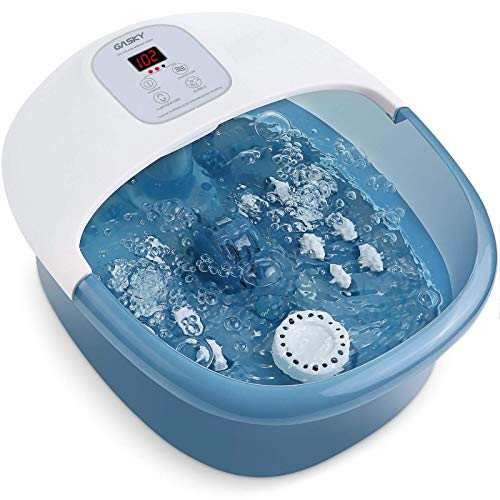 Gasky Bubble Foot Bath Massager with Heat, Shiatsu Rollers $39.99 | Turejo Footbath w/ Automatic Massage Rollers $53