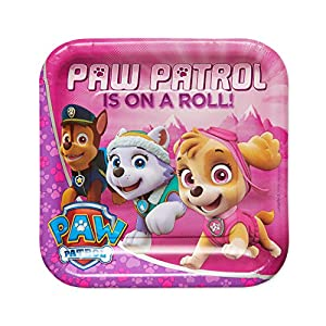 american greetings paw patrol pink paper dinner plates for kids (40-count) - 51jmxCIDHCL - American Greetings Paw Patrol Pink Paper Dinner Plates for Kids (40-Count)
