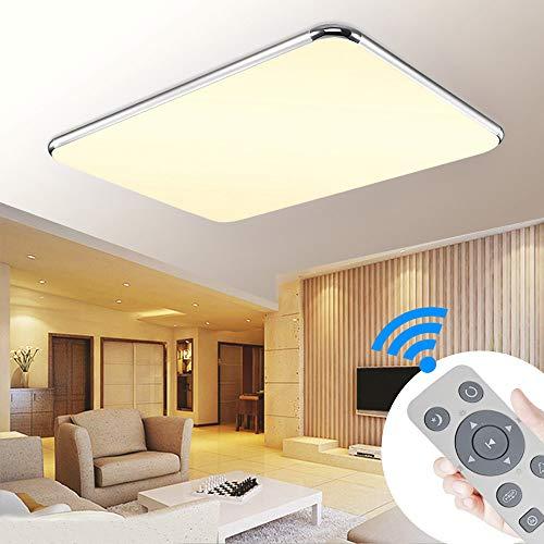 BRIFO 72W LED Deckenleuchte Dimmbar, Deckenlampe Panel Leuchte für Flur, Wohnzimmer, Küche, Büro, Modern Lampe Schutzart, Energie Sparen Licht, Dimmbar (3000-6500K) inkl. Fernbedienung (72W Dimmbar)