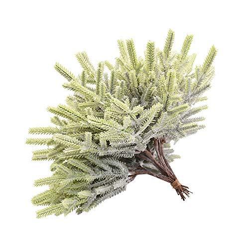 NLRHH Weihnachtsbaum 6/12 / 18 stücke Künstliche Zypresse Blätter Zweig for DIY Weihnachtsbaum auf Kiefer Blätter Home Raum Dekor Handwerk Einfache Montage (Farbe: 6Pcs) Peng (Color : 6pcs)